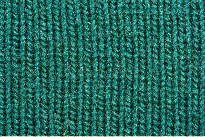 Green knitting wool texture royalty free stock images