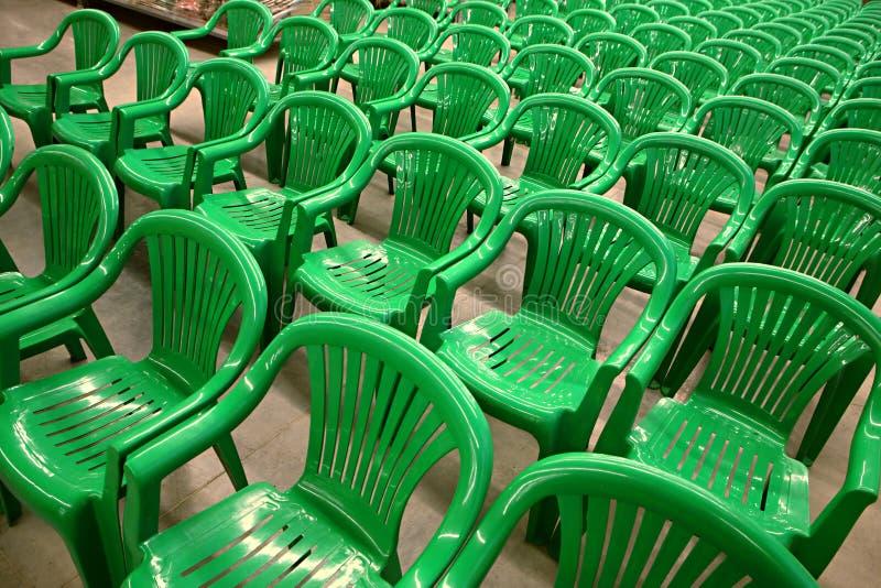 green krzesło fotografia royalty free