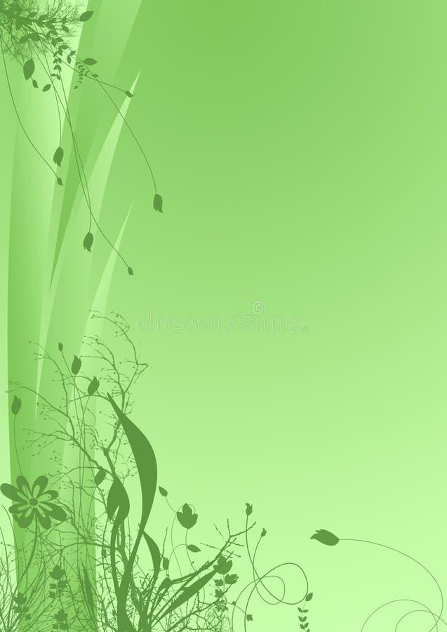 green kwiecista tło royalty ilustracja