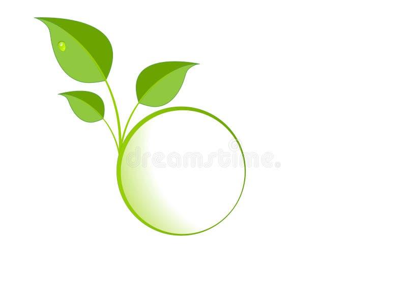 green låter vara logo royaltyfri illustrationer