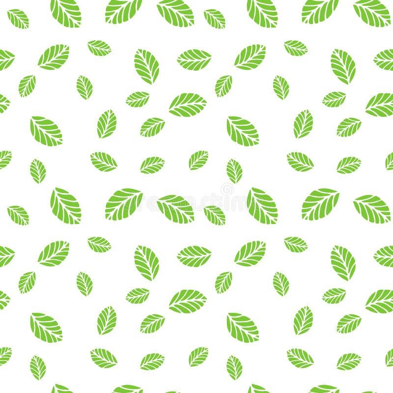 green låter vara minten seamless vektor för modell vektor illustrationer
