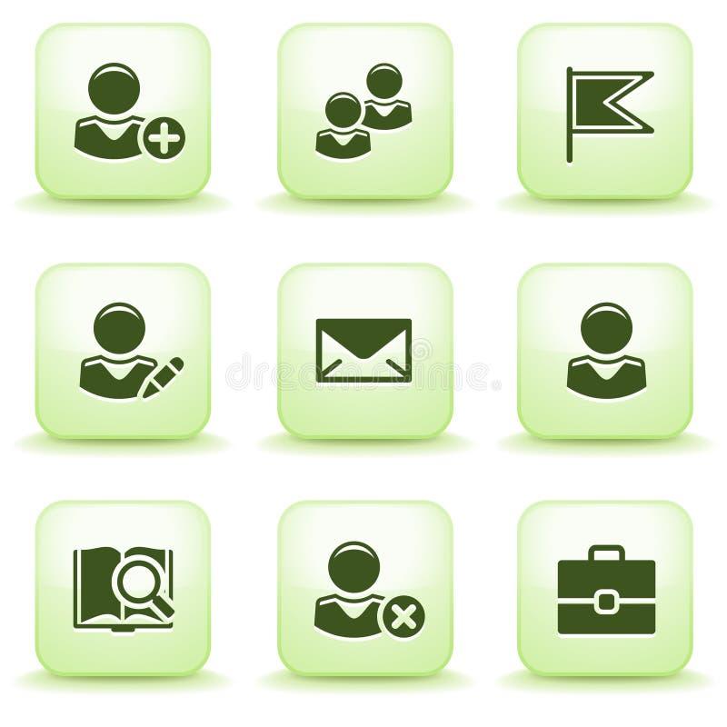 Green label for web 1 vector illustration