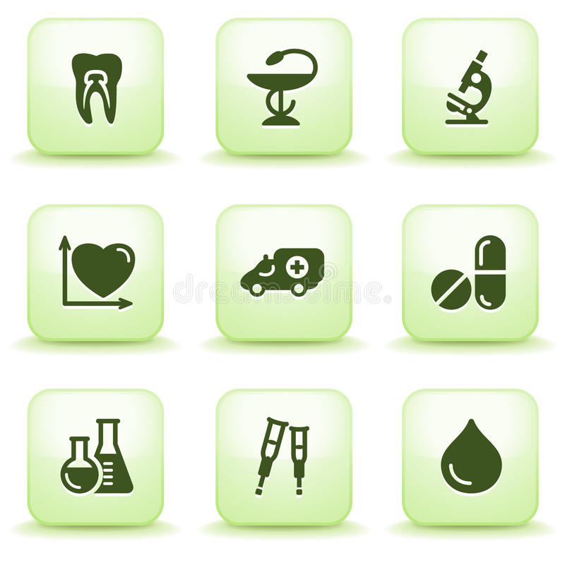 Green label for web 12 stock illustration