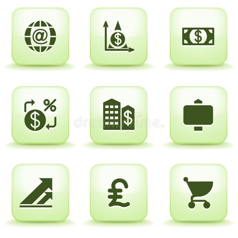 Green label for web 23 stock illustration