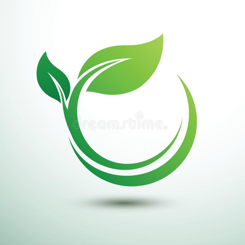 Green labels vector. Green labels concept with leaves,vector illustration vector illustration