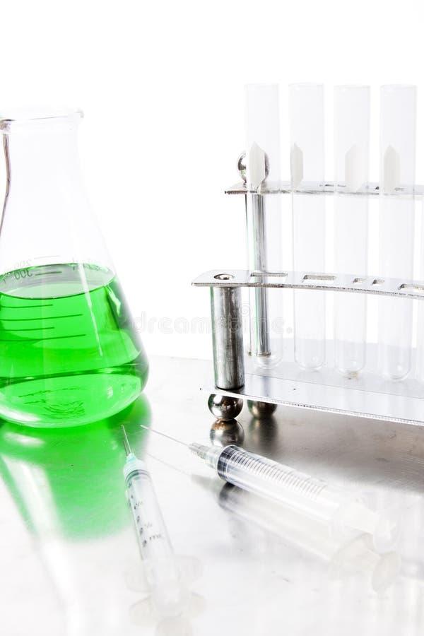 Green laboratory equipment royalty free stock image