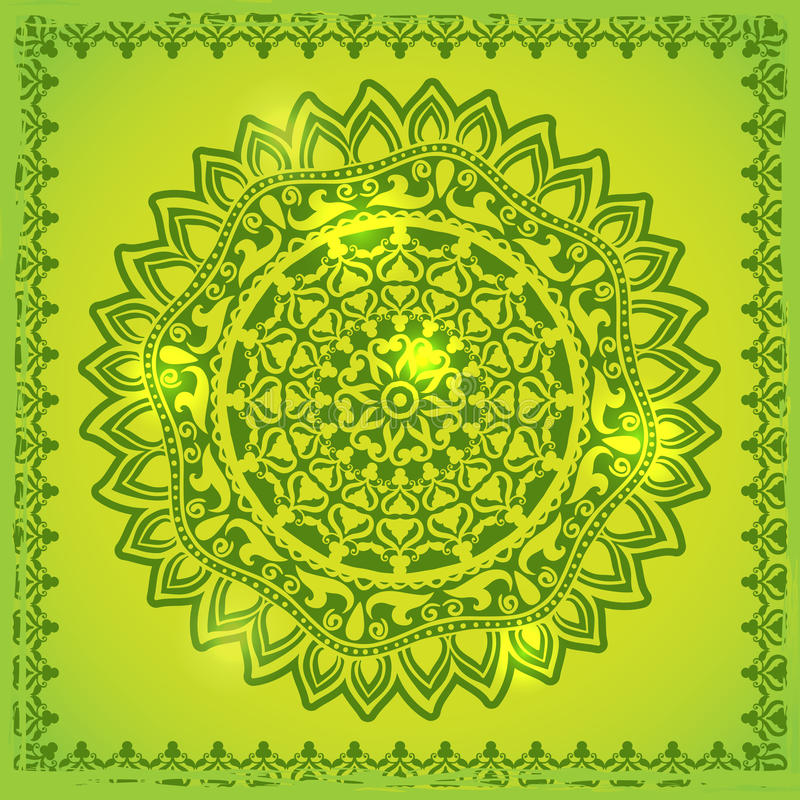 Download Green Lace Ornament Royalty Free Stock Photography - Image: 33845807