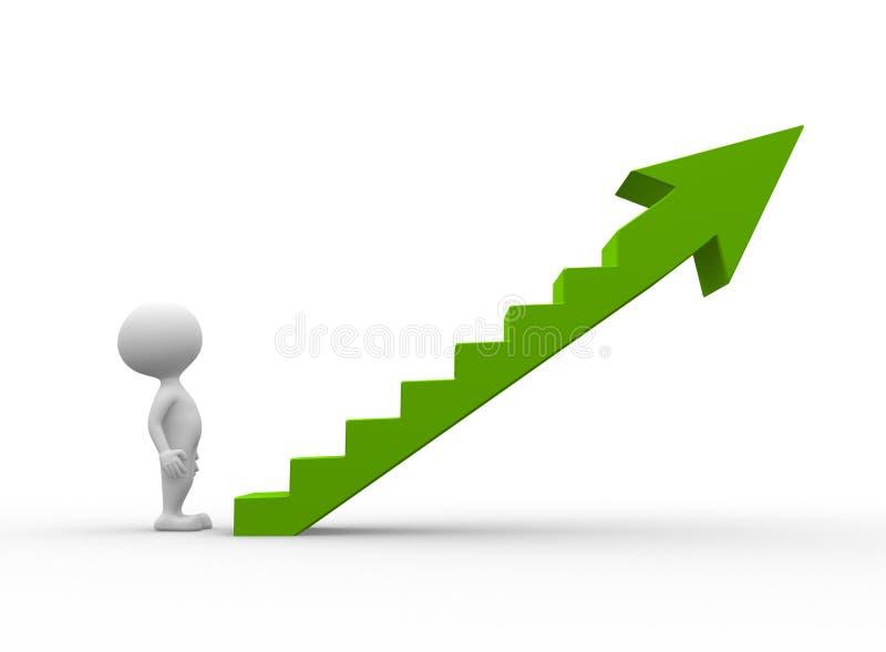 Green ladder vector illustration