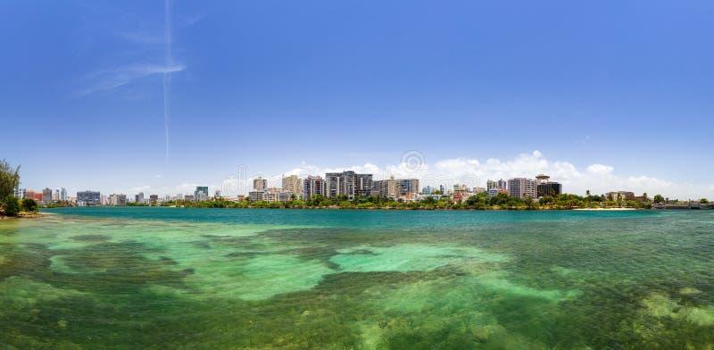Green Lagoon panorama royalty free stock photos