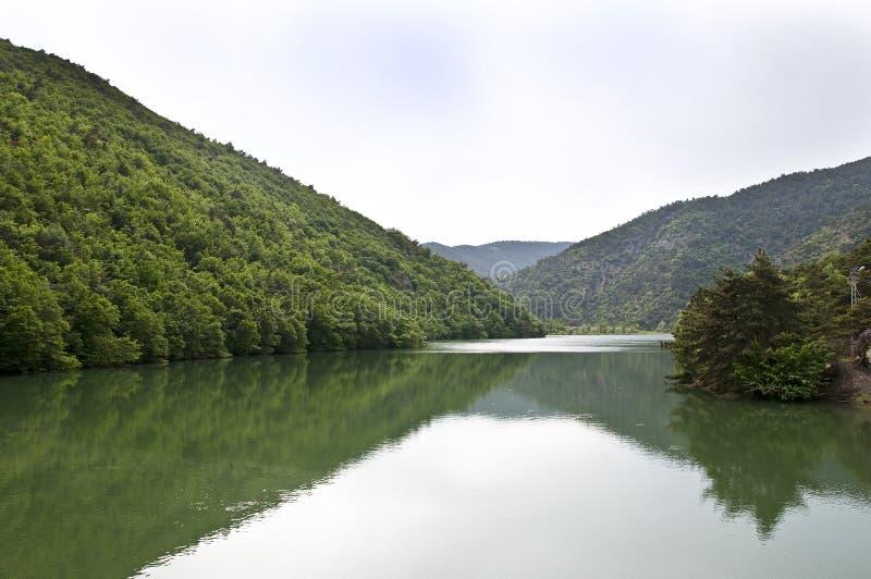 Lake Boraboy in Amasya City. Green lake reflection in spring stock images