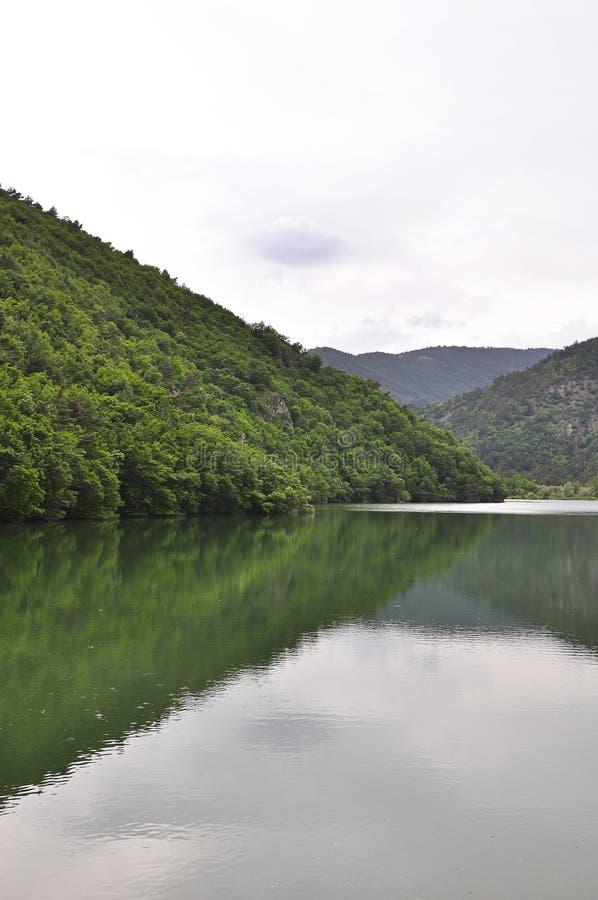 Lake Boraboy in Amasya City. Green lake reflection in spring stock photo