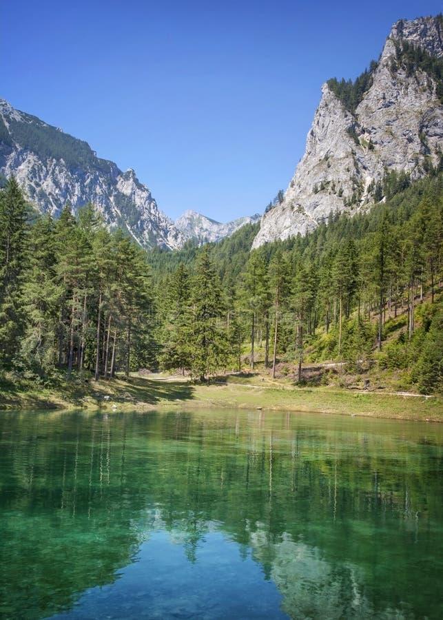 Green Lake in Styria. Austria royalty free stock photo