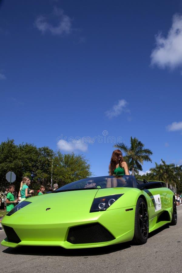 Green Lamborghini In Saint Patrick S Day Parade Editorial Stock Photo