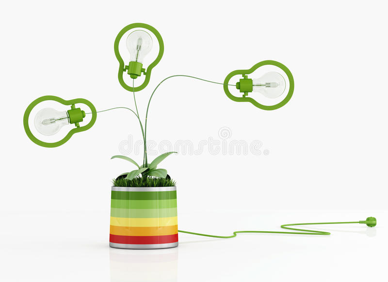 Download Green Lamp In A Colorful Vase Stock Illustration - Image: 29461359
