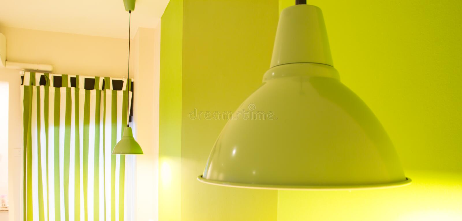 Green lamp royalty free stock photography