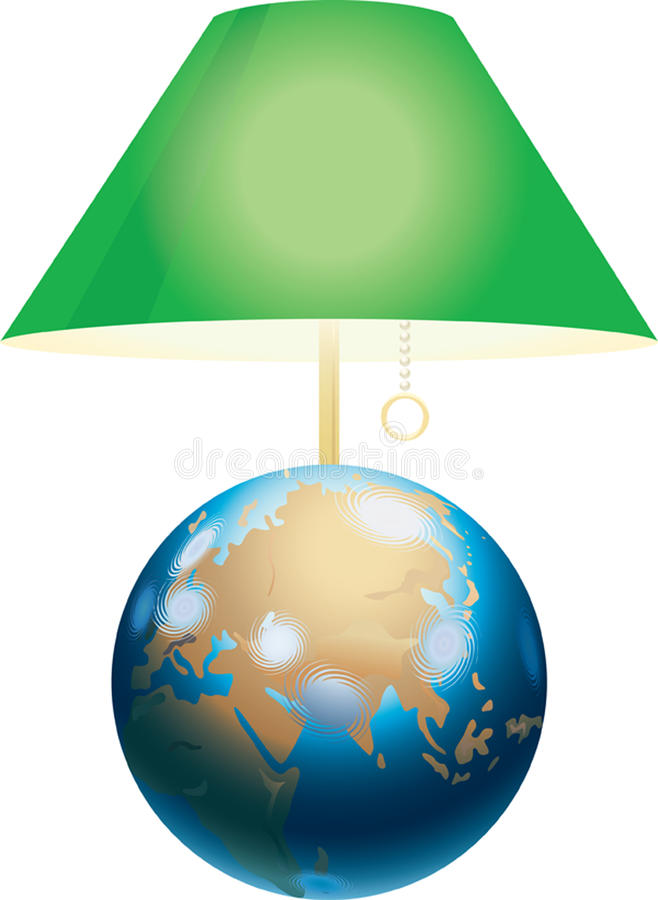 Download Green lamp shade stock illustration. Image of sphere - 13519364