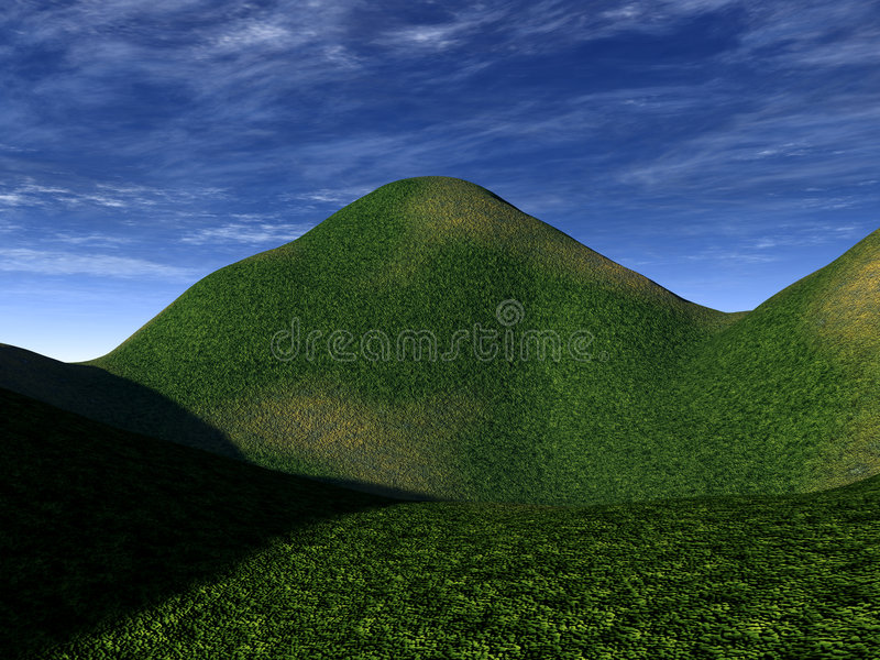 Green Landscape 2. This is some Green Hills stock illustration