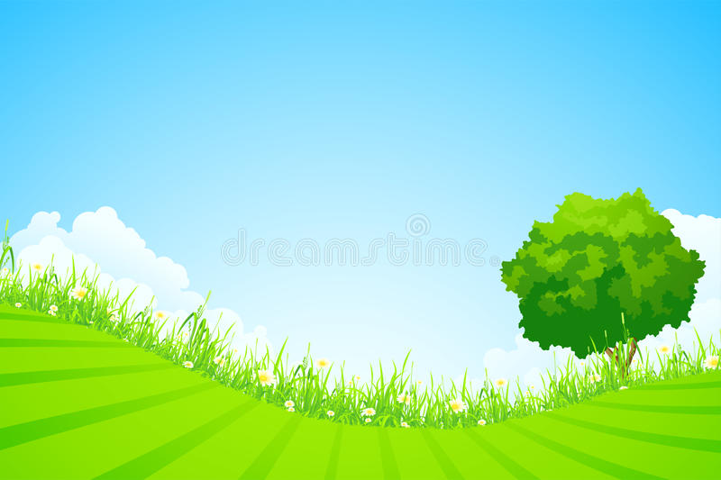 Green landscape royalty free stock image