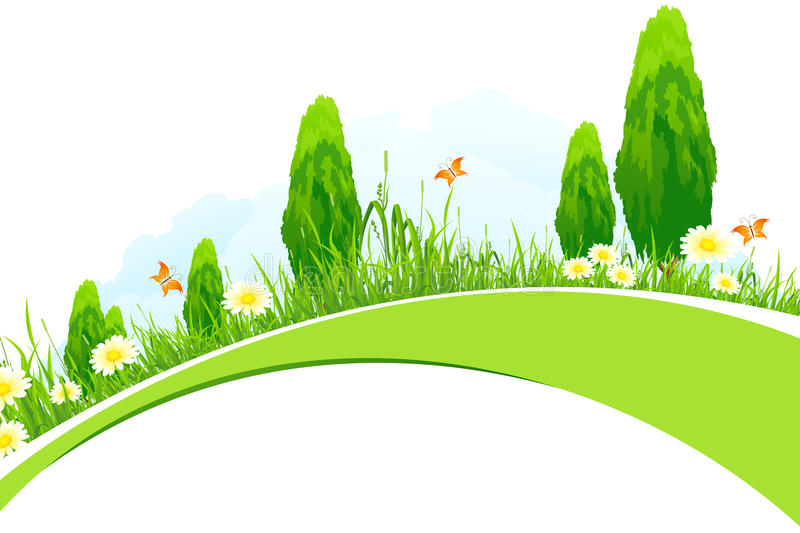 Download Green Landscape stock vector. Image of nature, green - 29474408