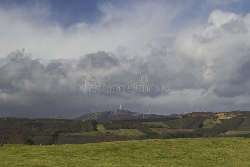 Green landscape of galicia royalty free stock photos
