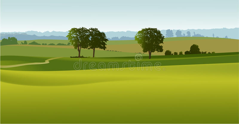 Download Green Landscape With  Trees Royalty Free Stock Photography - Image: 19436207