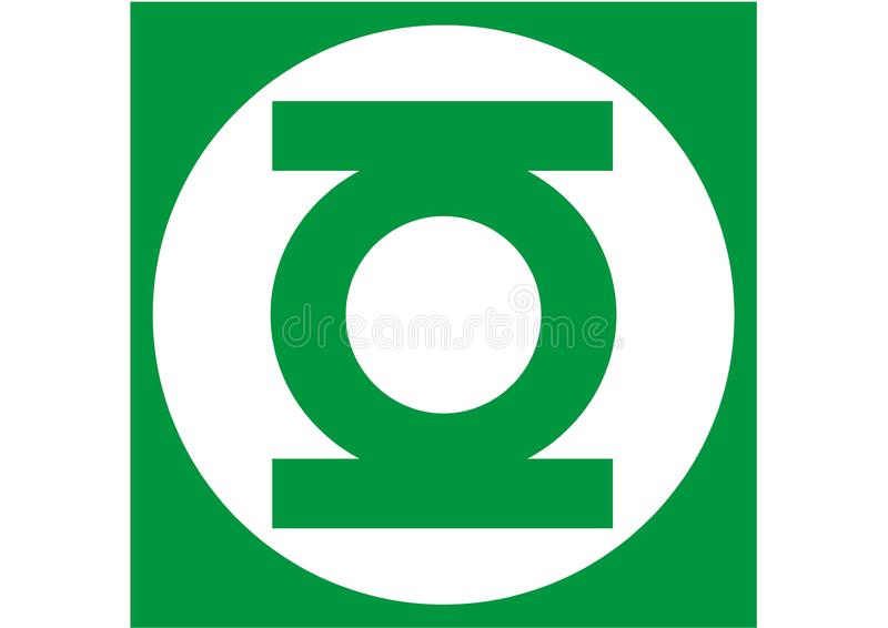 Green Lantern Logo, superhero. Best quality illustration of famous green lantern logo isolated on transparent background. High version vector available in royalty free illustration