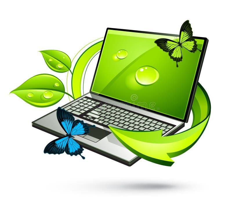 Green Laptop vector illustration