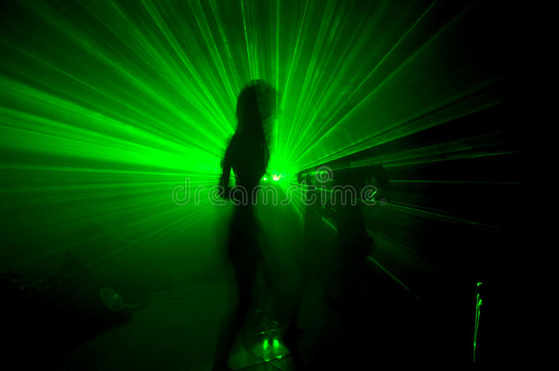 Download Green Laser stock photo. Image of woman, light, vinil - 16155782