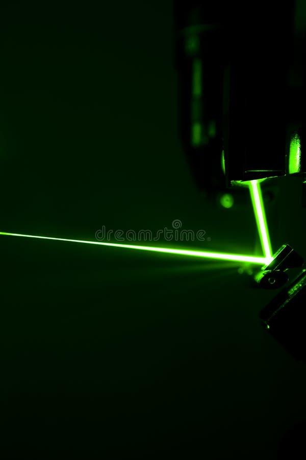 Green laser beam royalty free stock photo