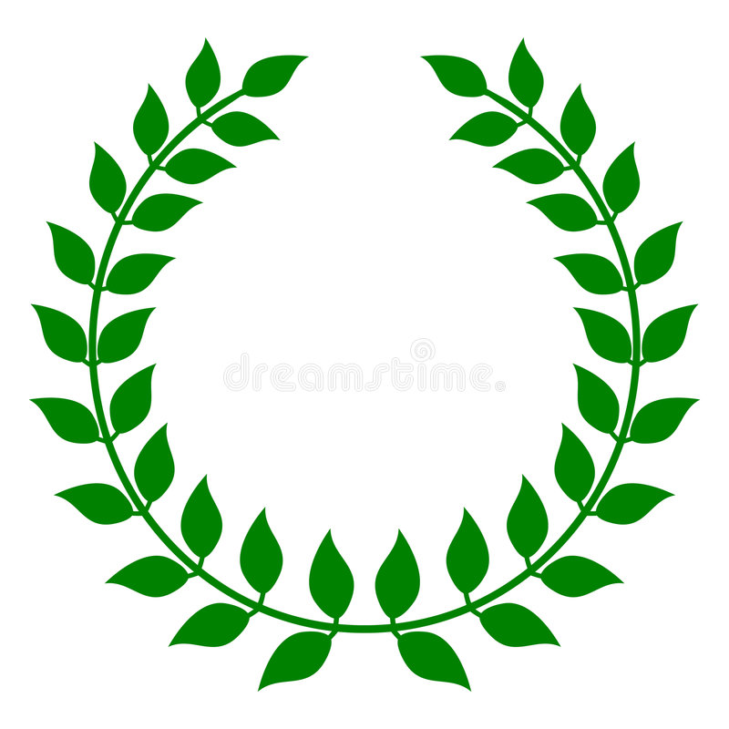 Download Green Laurel Wreath stock vector. Image of sign, victory - 7537760