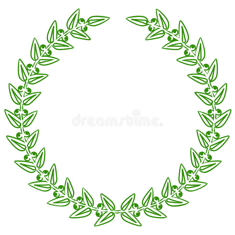 Download Green laurels stock vector. Image of green, first, circle - 24978226