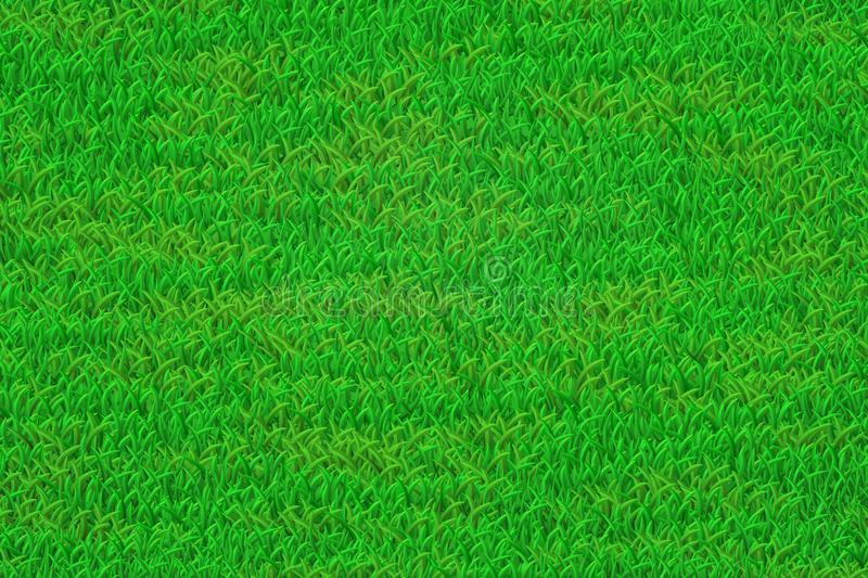 Green grass lawn background. Green lawn illustration. Realistic grass texture. EPS 10 vector illustration