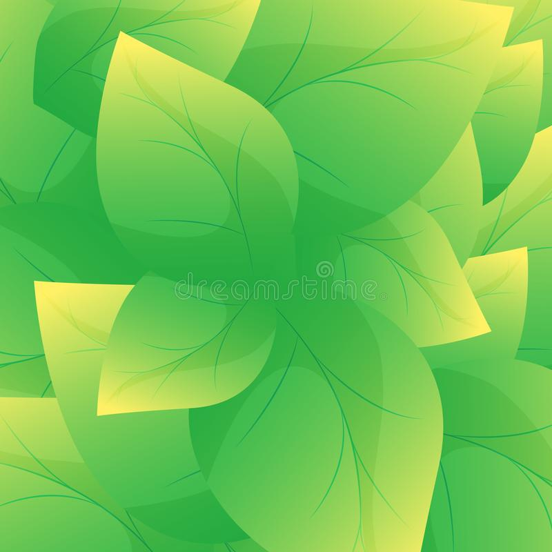 Green leaf background vector.Beautiful leaves texture background stock illustration