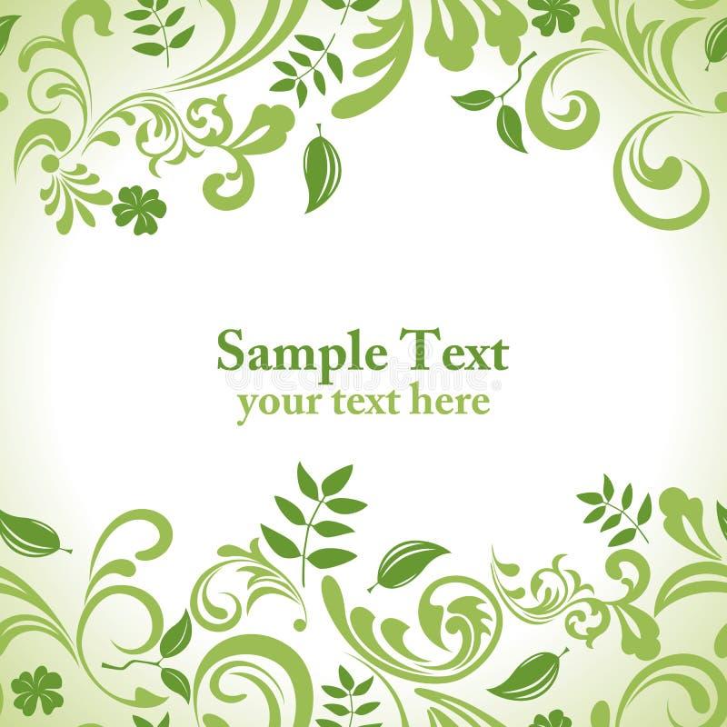 Green leaf banner set. Illustration