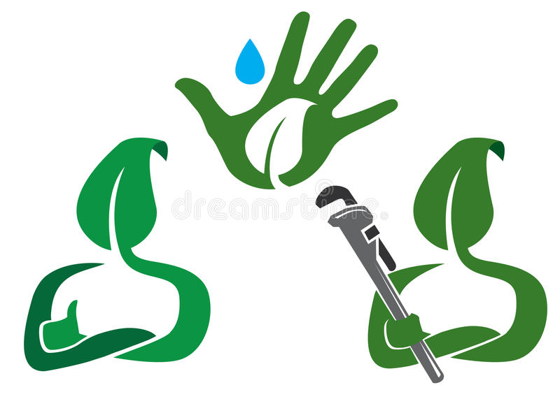 Download Green Leaf Concept stock vector. Image of worker, tool - 10165820