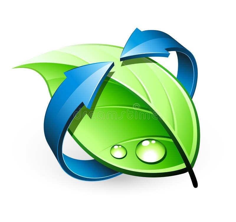 Green leaf design royalty free illustration