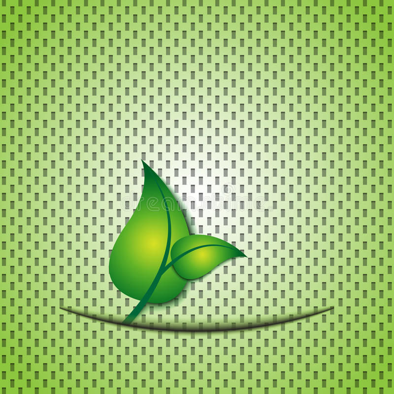 Download Green leaf eco background stock vector. Image of mouth - 20575461