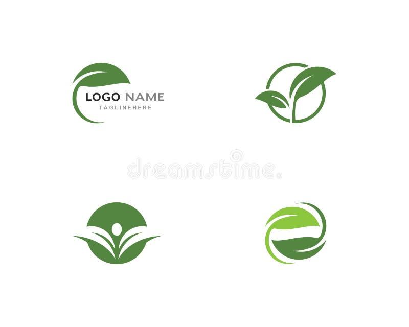 Green leaf ecology nature element. Logos of green leaf ecology nature element vector icon vector illustration