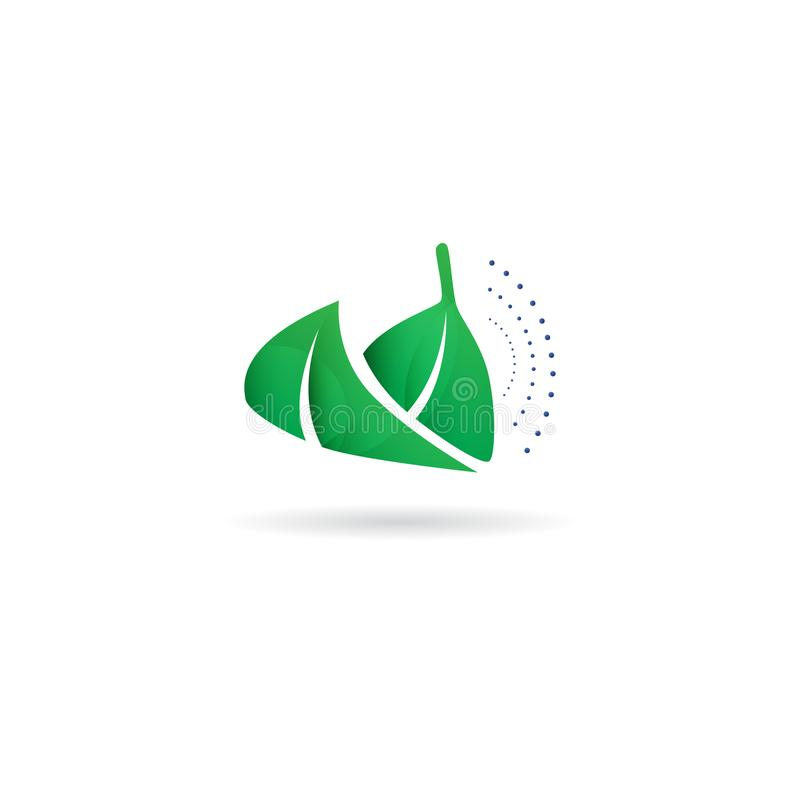 Green leaf ecology nature element vector design. Green leaf ecology nature element vector icon. Design shape leaf logo and abstract organic leaf logo vector illustration
