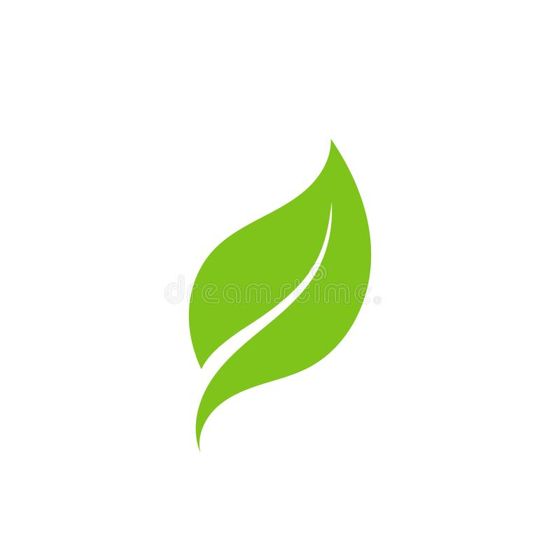 green leaf ecology nature element vector icon vector illustration