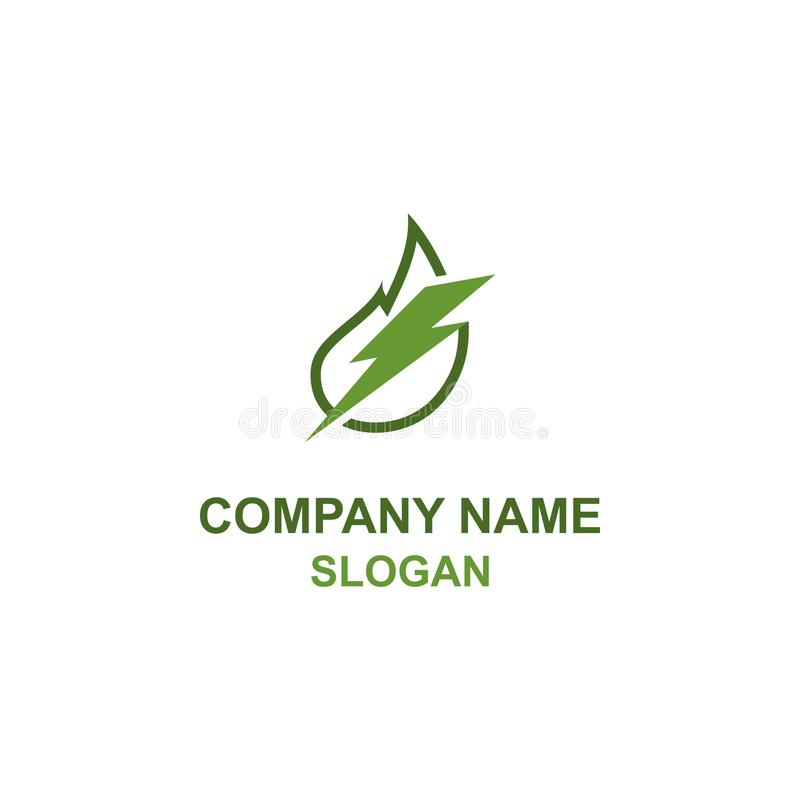 Green leaf energy logo. vector illustration