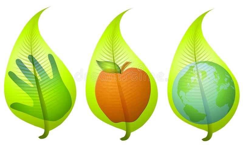 Green Leaf Environmental Clip Art vector illustration