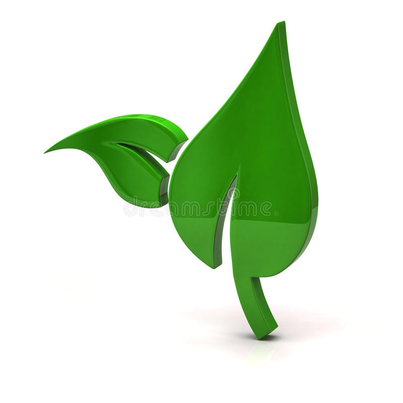 Download Green leaf icon stock illustration. Image of ecology - 26453414
