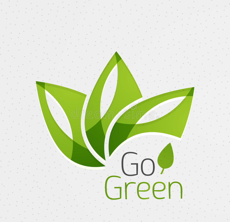 Green leaf icon concept royalty free illustration