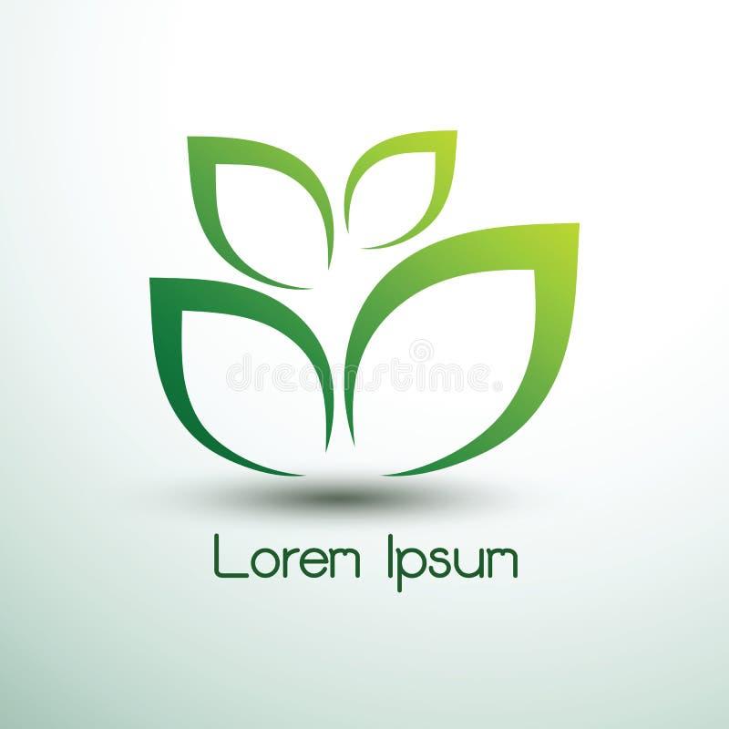 Green leaf icon logo. Eco concept ,vector illustration stock illustration