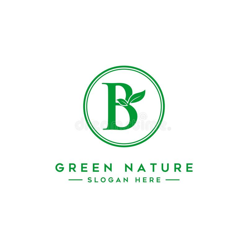 Letter B Leaf Logo Natural Logos vector illustration
