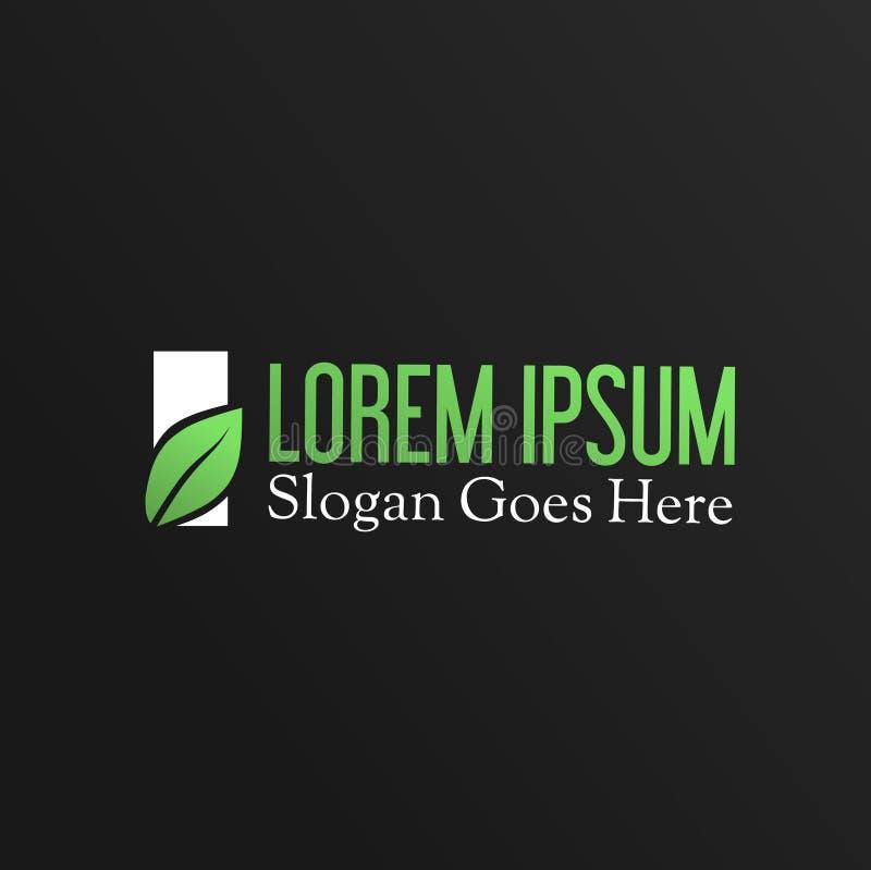 Green leaf modern logo design royalty free stock photography