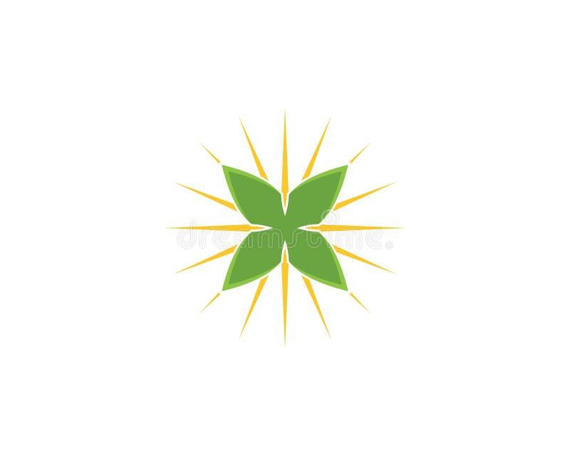Green leaf nature element.  royalty free illustration