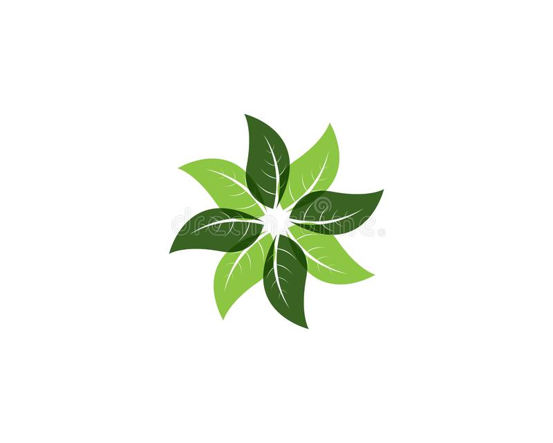 Green leaf nature element.  stock illustration