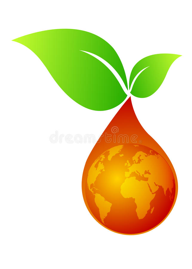 Green Leaf With Oildrop Stock Images
